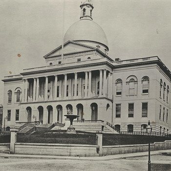 "State House,Boston,Beacon St"" Early XX Century"""""