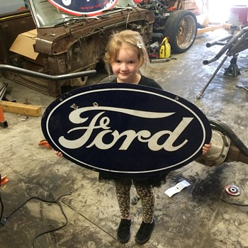 1920's FORD porcelain sign