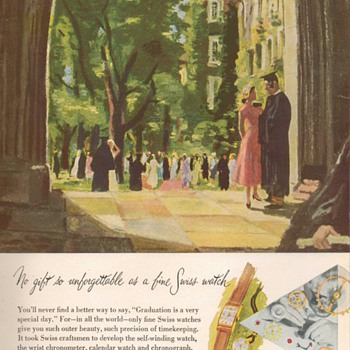 1951 - Swiss Watchmakers Federation Advertisement - Advertising