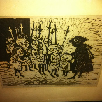 Little Worshippers - Steve Vasiliou - Original Pen and Ink