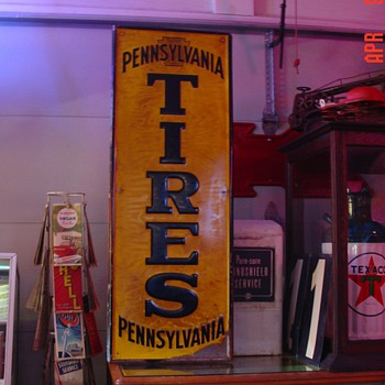 Embossed Pennsylvania Tires...Tin Sign