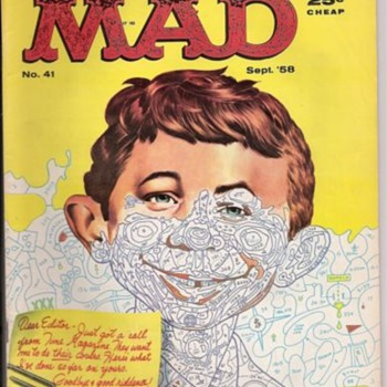 Mad Magazine with Paint by Number cover - Paper