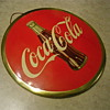 Coca Cola 9&quot; Celluloid 1950s Disc-Sign