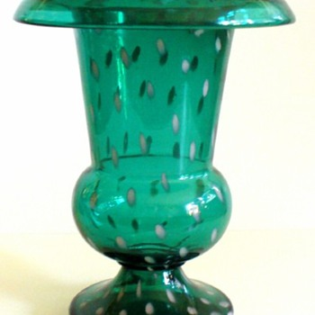 KRALIK POLKA DOT DECOR VASES - Art Glass