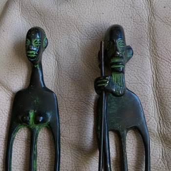 BENIN ,Tall Bronze People