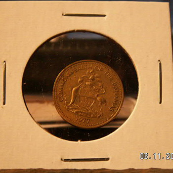 1977 Bahamas One Cent - World Coins