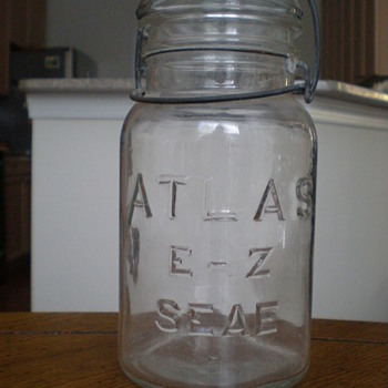 Unique Hazel-Atlas Canning Jar - Bottles