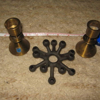 Mid-Century Scandinavian candle holders: Dansk spider &amp; Bollnaes
