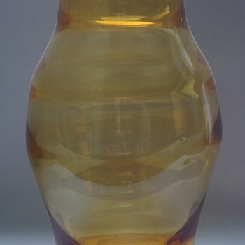 Amber Vase - Art Glass