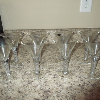 Mid-century Colony martini glasses - Glassware