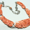Antique Carved Chinese Coral Necklace