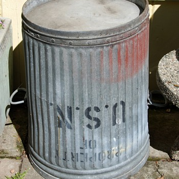 US Navy Trash Can - Military and Wartime