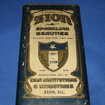 Vintage Zion Sparkling Beauties Candy Tin - Advertising