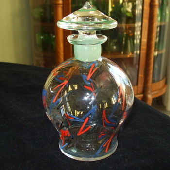 Art Deco CZECH Bottle -Perfume or Decanter? - Art Glass