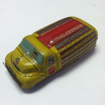 1950's Linemar Coca-Cola friction drive toy - Coca-Cola