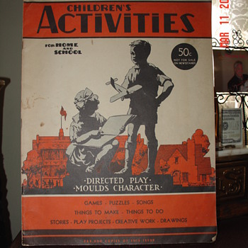 October 1942... Children&#039;s Activities...For Home And School...50 cents  - Books