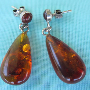 Amber Earrings - Fine Jewelry