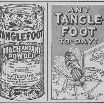 1921 - Tanglefoot Ant & Roach Powder Advertisement - Advertising