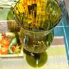 Tall Green Vase