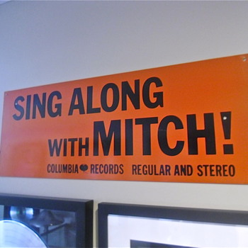 Sing Along With Mitch Sign