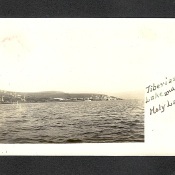 Town of Tiberius and the Sea of Galilee aka Lake Tiberias 1911