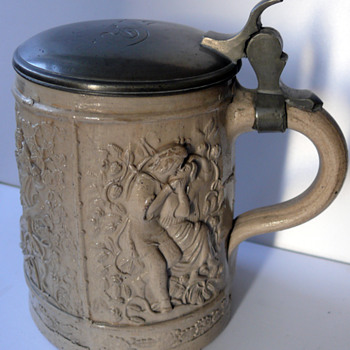 1835 moulded beer stein - Breweriana