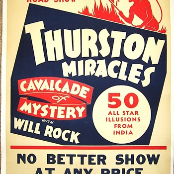 "Original 1938 Thurston ""Miracles"" Poster - Posters and Prints"