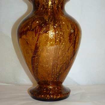 Kralik golden amber  - Art Glass