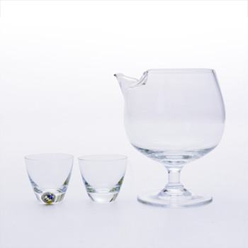 TIVOLI mixer  (1958) and COPENHAGEN glasses (1953), Per Ltken (Holmegaard)