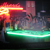 Night at the Parlor painting/neon by Michael Grant