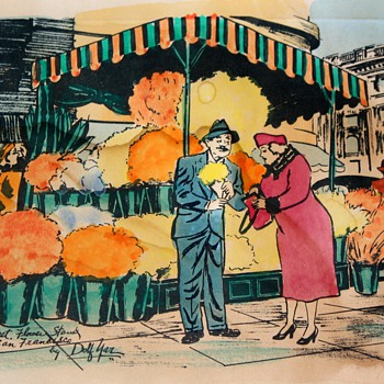 Dolf Yar ? Watercolored Prints of some kind? - San Francisco Street Scenes - Paper