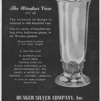1950 Quaker Silver Advertisement