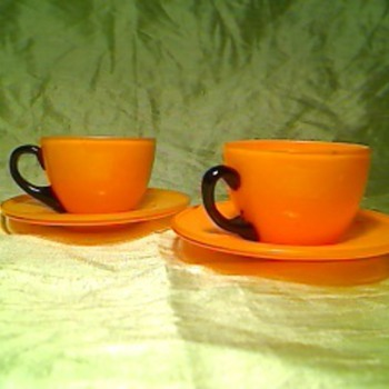 Orange espresso - Art Glass