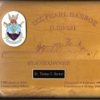 USS Pearl Harbor (LSD-52) Plank Owner - Military and Wartime