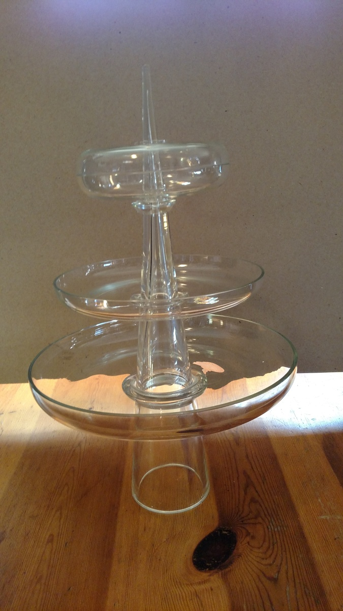 three tier glass serving tray collectors weekly. Black Bedroom Furniture Sets. Home Design Ideas