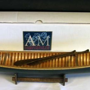 what NOT to buy when thinking of collecting  'salesman's sample', 'factory display' or Native American canoe models