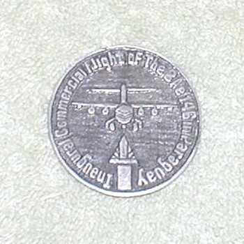 LAP Inaugural Flight BAe 146 Token - Advertising