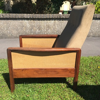 Teak and cane retro chair