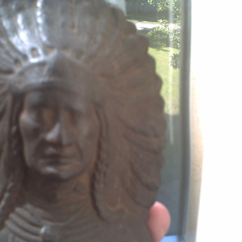 NATIVE CHIEF BOOKEND