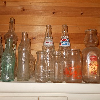 Soda Bottle and Milk Bottle Collection