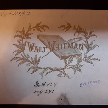 Walt Whitman cigar label circa 1908
