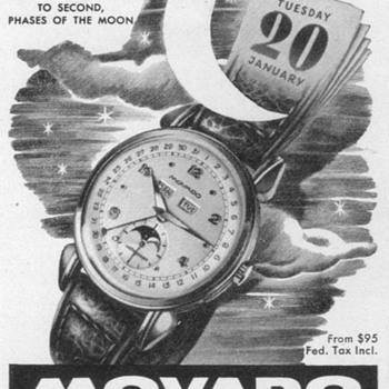 1951 - Movado Astrograph Watch Advertisement - Advertising