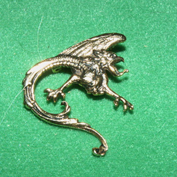 Vintage Brooch ~ Wyvern - Costume Jewelry