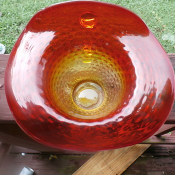 lovely hobnail amberina - Art Glass