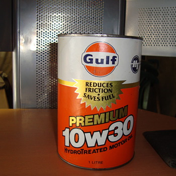 gulf full oil can  - Petroliana