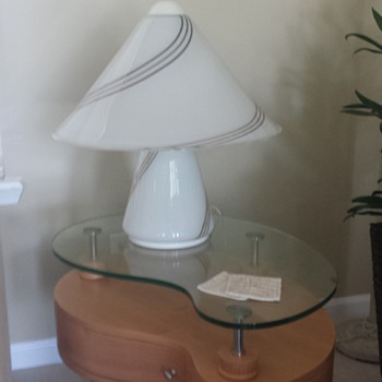 Glass Mushroom Table lamp