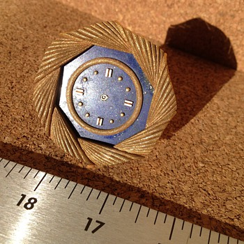 Tiffany 18k Gold & Lapis Clock