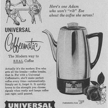 1954 Universal Coffee Maker / Blender Advertisements - Advertising