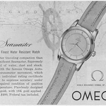 1952 - Omega Seamaster Wristwatch Advertisement - Advertising