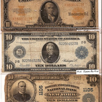 Favorite Tens. - US Paper Money